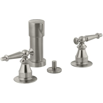 Antique Vertical Spray Bidet Faucet with Lever Handles Finish: Vibrant Brushed Nickel