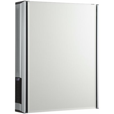 20 x 26 Aluminum Medicine Cabinet with Mirrored Door and Stereostik