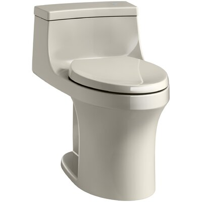 San Souci Comfort Height One Piece Compact Elongated Touchless Toilet with Aquapiston Flushing Technology Finish: Sandbar