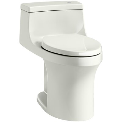 San Souci Comfort Height One Piece Compact Elongated Touchless Toilet with Aquapiston Flushing Technology Finish: Dune