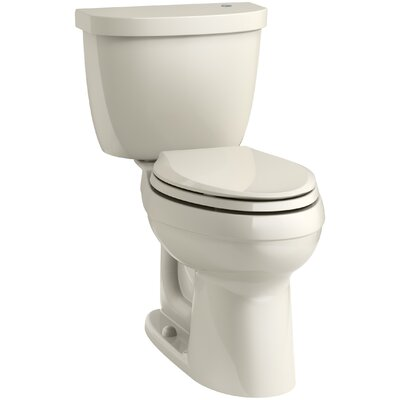 Cimarron Comfort Height 1.28 GPF Elongated Two-Piece Toilet Finish: Almond