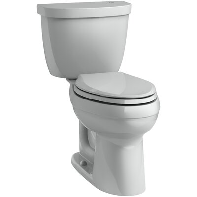 Cimarron Comfort Height 1.28 GPF Elongated Two-Piece Toilet Finish: Ice Grey