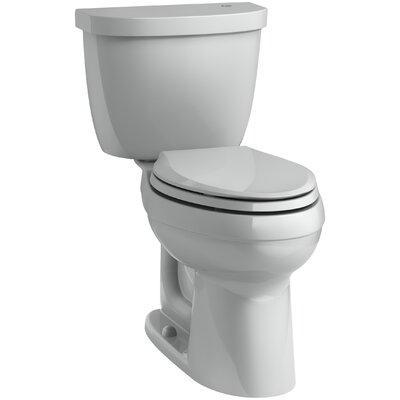 Cimarron Comfort Height 1.28 GPF Elongated Two-Piece Toilet Finish: Ice Grey