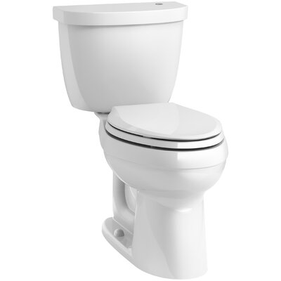 Cimarron Comfort Height 1.28 GPF Elongated Two-Piece Toilet Finish: White