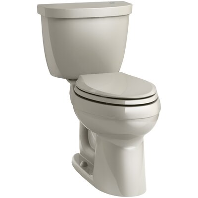 Cimarron Comfort Height 1.28 GPF Elongated Two-Piece Toilet Finish: Sandbar