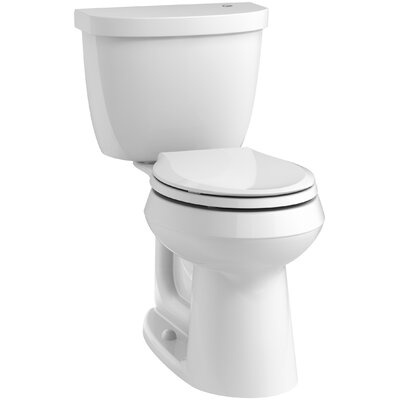 Cimarron 2 Piece Touchless Toilet with Aquapiston Flushing Technology Finish: White