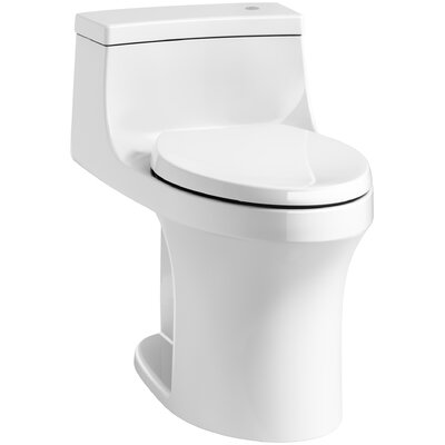 San Souci Impressions Souci Comfort Height One Piece Compact Elongated Touchless Toilet with Aquapiston Flushing Technology Finish: White