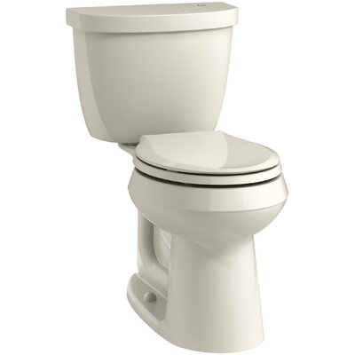 Cimarron 2 Piece Touchless Toilet with Aquapiston Flushing Technology Finish: Almond