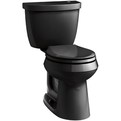Cimarron Impressions 2 Piece Touchless Toilet with Aquapiston Flushing Technology Finish: Black Black