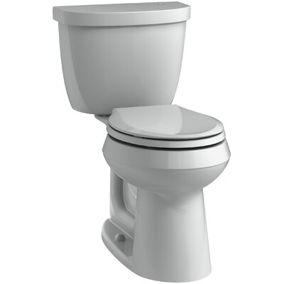 Cimarron 2 Piece Touchless Toilet with Aquapiston Flushing Technology Finish: Ice Grey