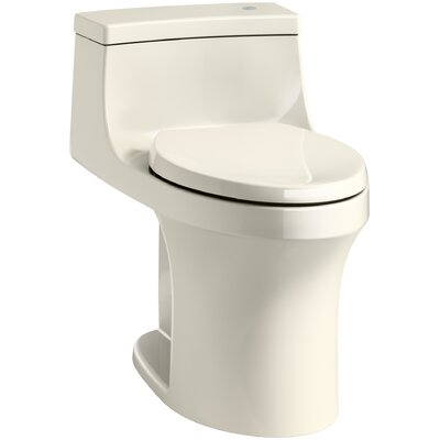 San Souci Comfort Height One Piece Compact Elongated Touchless Toilet with Aquapiston Flushing Technology Finish: Almond