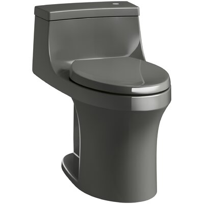 San Souci Comfort Height One Piece Compact Elongated Touchless Toilet with Aquapiston Flushing Technology Finish: Thunder Grey