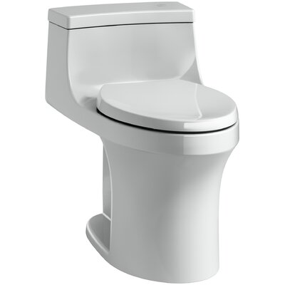 San Souci Comfort Height One Piece Compact Elongated Touchless Toilet with Aquapiston Flushing Technology Finish: Ice Grey