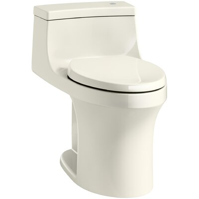 San Souci Comfort Height One Piece Compact Elongated Touchless Toilet with Aquapiston Flushing Technology Finish: Biscuit