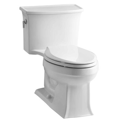 Archer 1.28 GPF Elongated One-Piece Toilet Finish: White