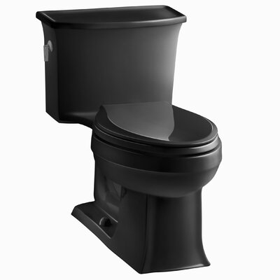Archer 1.28 GPF Elongated One-Piece Toilet Finish: Black Black