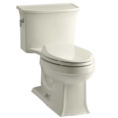 Archer 1.28 GPF Elongated One-Piece Toilet Finish: Almond
