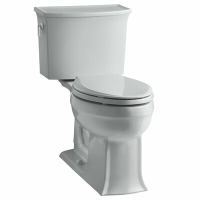 Archer 2 Piece Elongated Toilet with Aquapiston Flush Technology Finish: Ice Grey