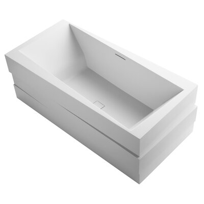 Askew Freestanding Bath with Center Toe-Tap Drain