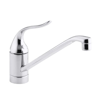 Coralais Single-Hole Kitchen Sink Faucet with 8-1/2 Spout, Ground Joints and Lever Handle