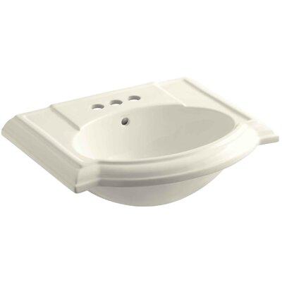 Devonshire� Ceramic 24 Pedestal Bathroom Sink with Overflow Finish: Biscuit