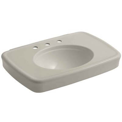 Bancroft� Ceramic 31 Pedestal Bathroom Sink with Overflow Sink Finish: Sandbar, Faucet Mount: Single