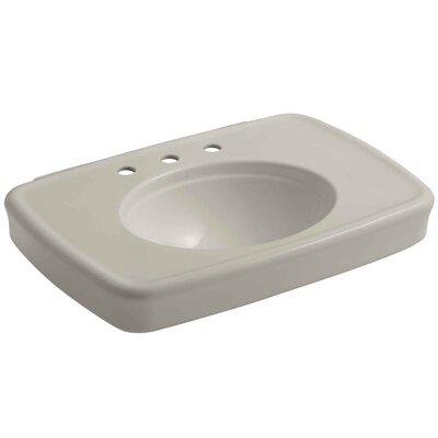 Bancroft� Ceramic 31 Pedestal Bathroom Sink with Overflow Sink Finish: Sandbar, Faucet Mount: 8 Widespread