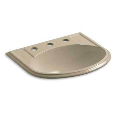 Devonshire Ceramic U-Shaped Drop-In Bathroom Sink with Overflow Finish: Mexican Sand