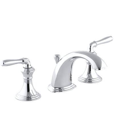 Devonshire Standard Bathroom Faucet Double Handle with Drain Assembly Finish: Polished Chrome
