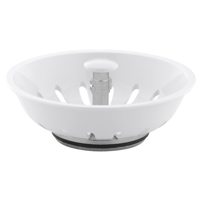 Duostrainer Manual Sink Basket Strainer Finish: White