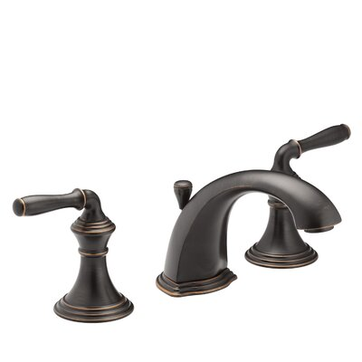 Devonshire Standard Bathroom Faucet Double Handle with Drain Assembly Finish: Oil Rubbed Bronze