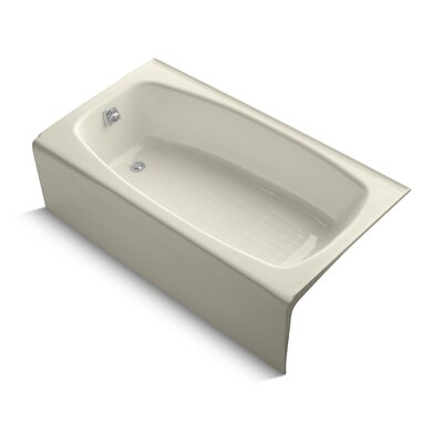 Dynametric Alcove 60 x 32 Soaking Bathtub Finish: Almond