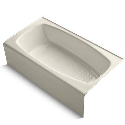 Dynametric Alcove 60 x 32 Soaking Bathtub Finish: Almond