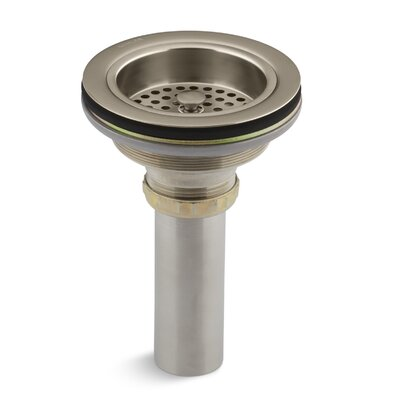 Duostrainer Manual 1.5 Grid Kitchen Sink Drain Finish: Vibrant Brushed Bronze