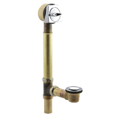 Sok 1.5 Leg Tub Drain With Overflow Finish: Polished Chrome