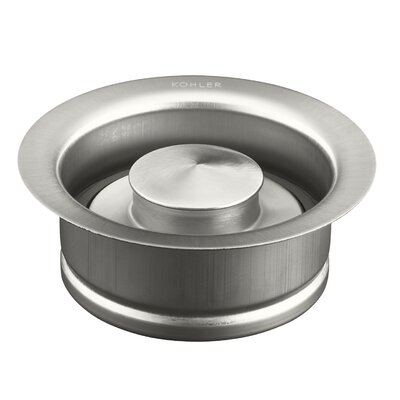 Disposal Flange with Stopper Finish: Brushed Stainless
