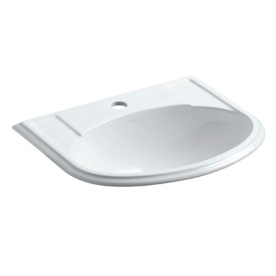 Devonshire Self Rimming Bathroom Sink Finish: White