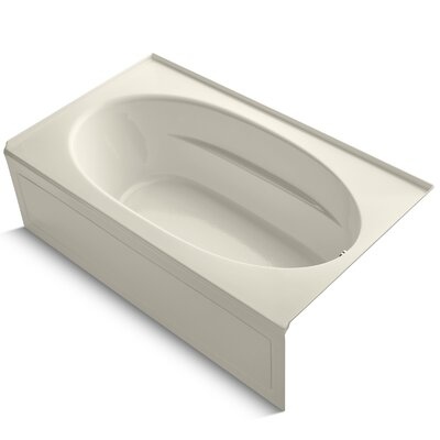 Windward Alcove 72 x 42 Soaking Bathtub Finish: Almond