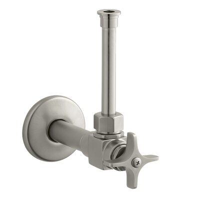 Angle Supply with Stop, Cross Handle and Rigid Vertical Tube Finish: Vibrant Brushed Nickel
