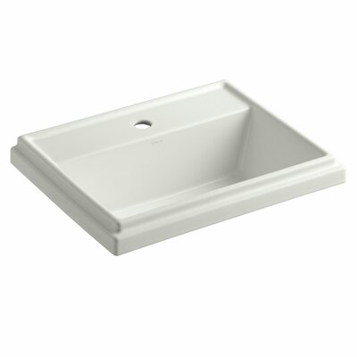 Tresham� Ceramic Rectangular Drop-In Bathroom Sink with Overflow Finish: Dune, Faucet Hole Style: 8 Widespread