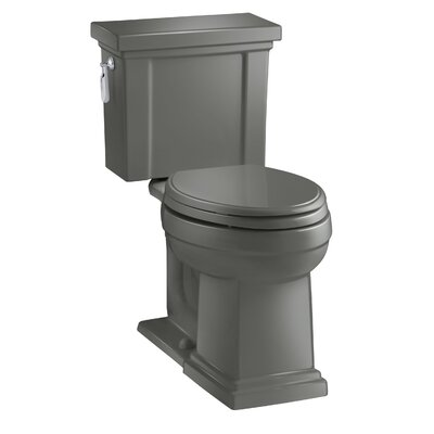 Tresham Comfort Height 1.28 GPF Elongated Two-Piece Toilet Finish: Thunder Grey
