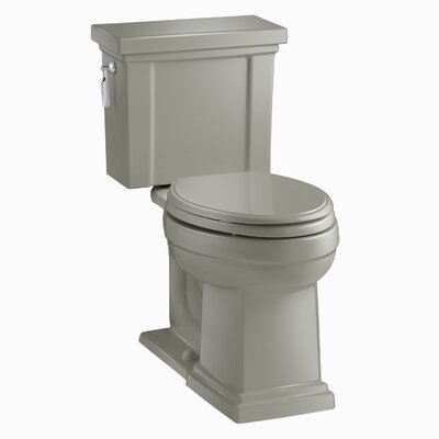 Tresham Comfort Height 1.28 GPF Elongated Two-Piece Toilet Finish: Cashmere