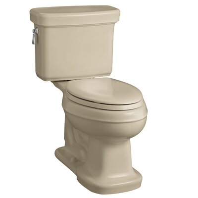 Bancroft Comfort Height Two-Piece Elongated 1.28 GPF Toilet with Aquapiston Flush Technology Finish: Mexican Sand