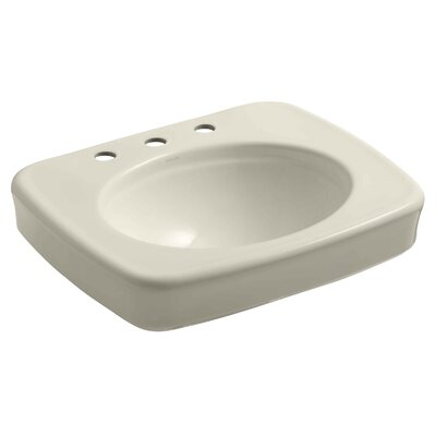 Bancroft 24 Pedestal Bathroom Sink Finish: Almond