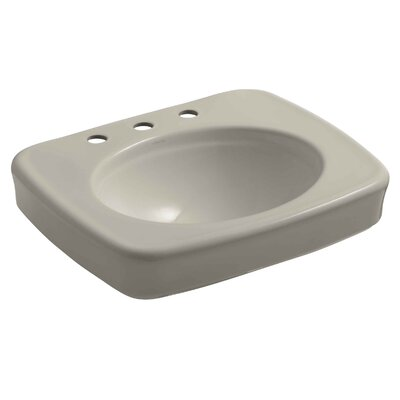 Bancroft� Ceramic 24 Pedestal Bathroom Sink Finish: Sandbar