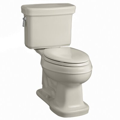 Bancroft Comfort Height Two-Piece Elongated 1.28 GPF Toilet with Aquapiston Flush Technology Finish: Sandbar
