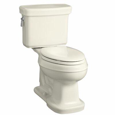 Bancroft Comfort Height Two-Piece Elongated 1.28 GPF Toilet with Aquapiston Flush Technology Finish: Almond