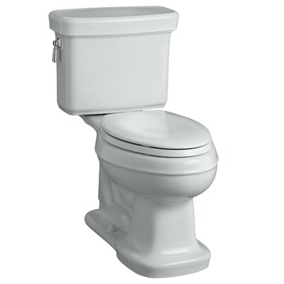 Bancroft Comfort Height Two-Piece Elongated 1.28 GPF Toilet with Aquapiston Flush Technology Finish: Ice Grey