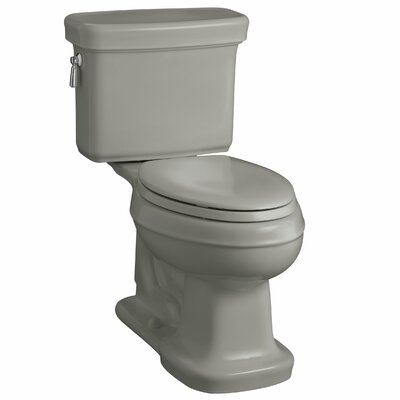 Bancroft Comfort Height Two-Piece Elongated 1.28 GPF Toilet with Aquapiston Flush Technology Finish: Cashmere