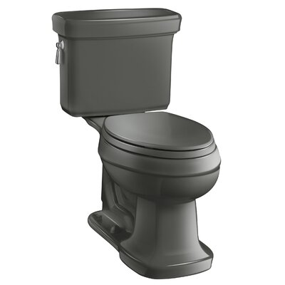 Bancroft Comfort Height Two-Piece Elongated 1.28 GPF Toilet with Aquapiston Flush Technology Finish: Thunder Grey